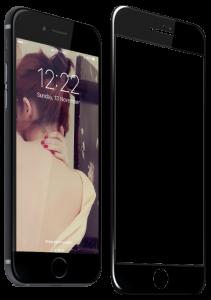 Защитное стекло для iPhone 7/8 Plus  Blueo 3D Hot Bending Black