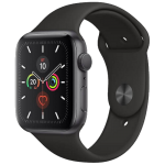 Watch 40mm Space Gray Aluminum Case with Black Sport Band (MWV82) Series 5 GPS