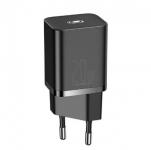 Сетевое зарядное устройство 20W Baseus Super Si Quick Charger Black