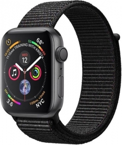 Watch 44mm Space Gray Aluminum Case with Black Sport Loop Band (MU6E2) Series 4 GPS