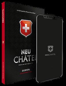 Защитное стекло для iPhone Xr +NEU Chatel Full 3D Crystal Front Black