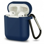 Силиконовый чехол для Airpods Blueo Liquid Silicone Case Midnight Blue