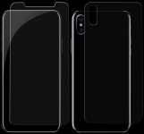 Защитное стекло для iPhone X Mr.Yes Front+Back Tempered Glass Clear