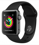 Watch 38mm Space Gray Aluminum Case with Black Sport Band (MTF02) Series 3 GPS (2018) EU