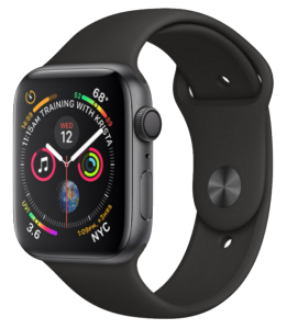 Watch 38mm Space Gray Aluminum Case with Black Sport Band (MTF02) Series 3 GPS (2018)