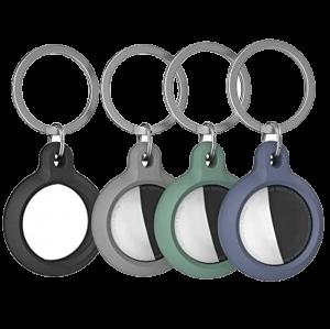 Чехол для AirTag AhaStyle Premium Silicone Secure Holder Midnight Green