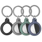 Чехол для AirTag AhaStyle Premium Silicone Secure Holder Dark Grey
