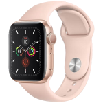 Watch 44mm Gold Aluminium Case with Pink Sand Sport Band (MWVE2) Series 5 GPS