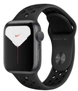Watch 44mm Nike+ Space Gray Aluminium Case with Black Sport Band (MX3W2) Series 5 GPS EU