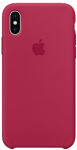 Чехол для iPhone X Original Silicone Copy Rose Red
