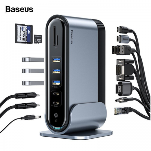 Адаптер Baseus Working Station Multifunctional Type-C HUB AdapterDark