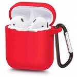 Силиконовый чехол для Airpods Blueo Liquid Silicone Case Red