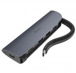 Адаптер HOCO HB13  EasyLink Type-C converter (Type-C to USB3.0*3+HDMI+PD)