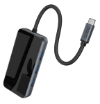 Адаптер HOCO HB16 Easy expand Type-C adapter(Type-C to USB3.0*3+HDMI+PD+RJ45)
