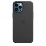 Чехол для iPhone 12 Pro Max with MagSafe Leather Case Black