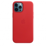 Чехол для iPhone 12/12 Pro with MagSafe Leather Case Red