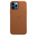 Чехол для iPhone 12/12 Pro with MagSafe Leather Case Saddle Brown