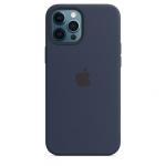 Чехол для iPhone 12 Pro Max with MagSafe Original Silicone Copy Deep Navy
