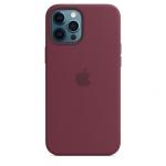 Чехол для iPhone 12 Pro Max with MagSafe Original Silicone Copy Plum