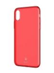 Чехол для iPhone X Baseus Transparent Red