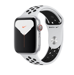 Watch 40mm Nike+ Silver Aluminium Case with Pure Platinum Black Nike Sport Band (MYYW2/MYYR2) Series SE GPS + LTE