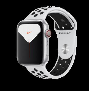 Watch 40mm Nike+ Silver Aluminium Case with Pure Platinum Black Nike Sport Band (M06J3/M07C3) Series 6 GPS + LTE