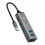 Переходник Baseus USB Hub to 5 USB (CAHUB-C0G) Dark Gray