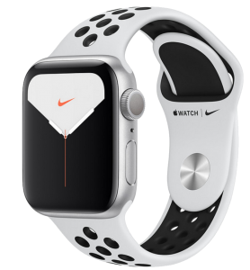 Watch 44mm Nike+ Silver Aluminium Case with White Sport Band (MX3V2) Series 5 GPS
