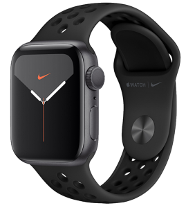 Watch 44mm Nike+ Space Gray Aluminium Case with Black Sport Band (MX3W2) Series 5 GPS