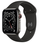 Watch 40mm Graphite Stainless Steel Case with Black Sport Band (M06X3/M02Y3) Series 6 GPS + LTE
