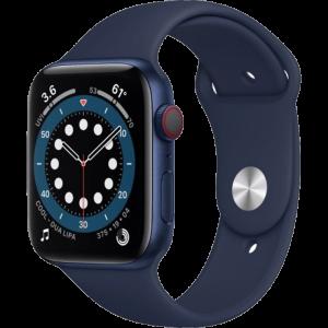 Watch 44mm Blue Aluminum Case with Deep Navy Sport Band (M07J3) Series 6 GPS + LTE