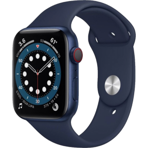 Watch 40mm Blue Aluminum Case with Black Sport Band (M02R3/M06Q3) Series 6 GPS + LTE