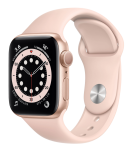 Watch 40mm Gold Aluminum Case with Pink Sand Sport Band (MG123) Series 6 GPS