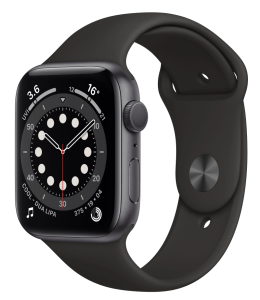Watch 44mm Space Gray Aluminum Case with Black Sport Band (M00H3) Series 6 GPS