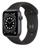 Watch 40mm Space Gray Aluminum Case with Black Sport Band (MG133) Series 6 GPS