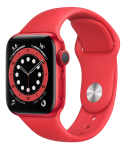 Watch 44mm (PRODUCT) RED Aluminum Case with Red Sport Band (M07K3/M09C3) Series 6 GPS + LTE