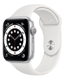 Watch 40mm Silver Aluminum Case with White Sport Band (MG283) Series 6 GPS EU