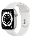 Watch 44mm Silver Aluminum Case with White Sport Band (M00D3) Series 6 GPS EU