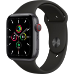 Watch 44mm Space Gray Aluminum Case with Black Sport Band (MYER2/MYF02) Series SE GPS + LTE