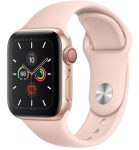 Watch 40mm Gold Aluminum Case with Pink Sand Sport Band (MYEA2/MYEH2) Series SE GPS + LTE