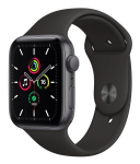 Watch 40mm Space Gray Aluminum Case with Black Sport Band (MYDP2) Series SE GPS EU
